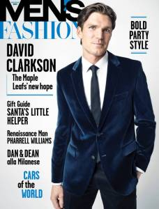 David Clarkson for Men's Fashion Canada