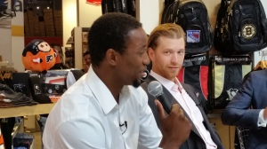 Wayne Simmonds and Claude Giroux (c) 2014 Michelle Kenneth